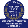 British Travel Awards Winner 2015